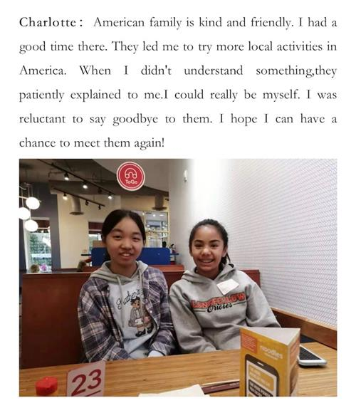 Charlotee, a student visiting from China shares about her homestay