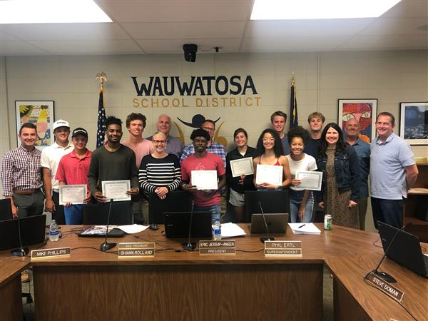 School Board recognizes 50 students for athletic excellence