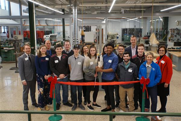 City, state and business leaders help Wauwatosa School District celebrate the completion of its new Center for Design and Innovation